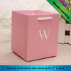 Pink custom logo hot stamping gift paper bag with drawstring handle