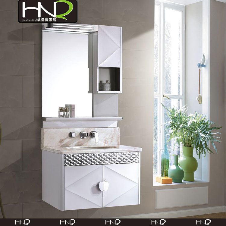 low price stainless steel bathroom cabinet with water resistant for bathroom furniture