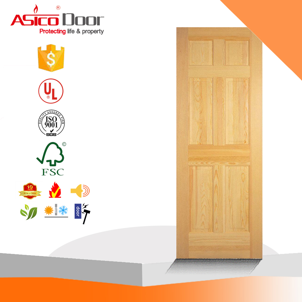 6 Panel Clear Pine Interior Door Slab Buy Panel Pine Doorpine