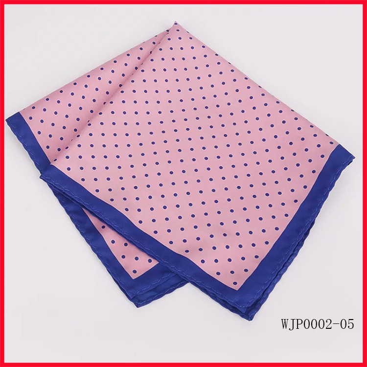 Custom Made Polyester Digital Printed Pocket Squares Hanky