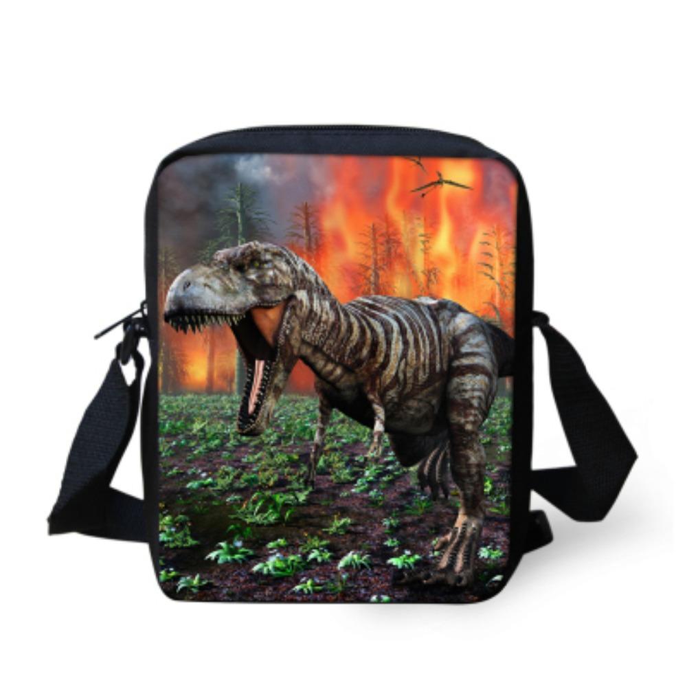 9881e6408c Get Quotations · Cool Dinosaur Print Boys Messenger Bag Kids Shoulder  Crossbody Bag For Men Teenager Casual Outdoor Handbag