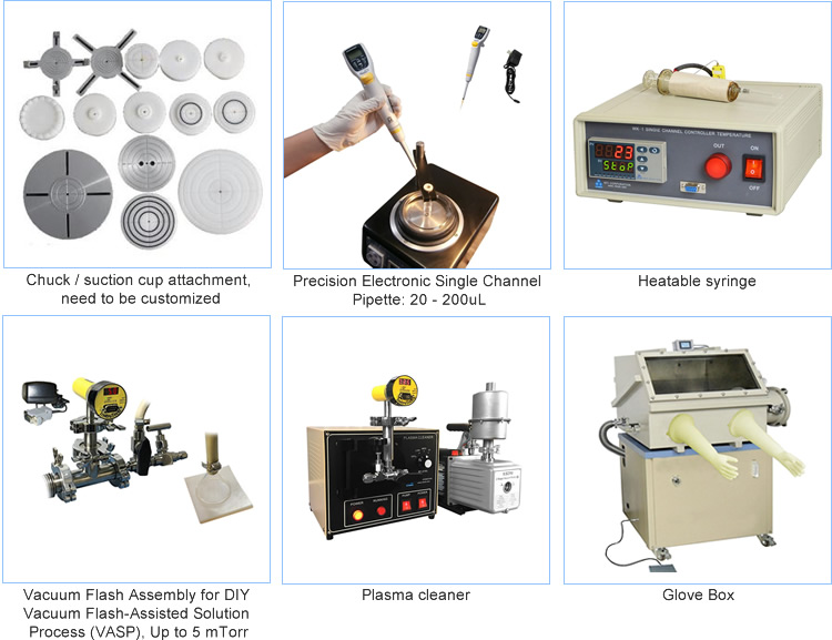 CE Certified Tabletop Programmable High-Speed Small Spin Coater for Sale