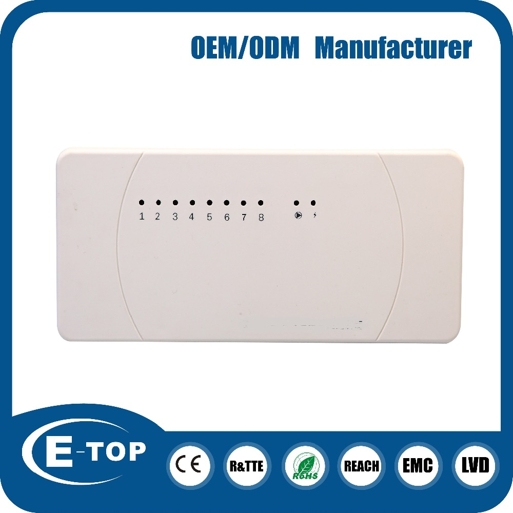 8 zone output wireless under floor water heating thermostat central control system of water heating