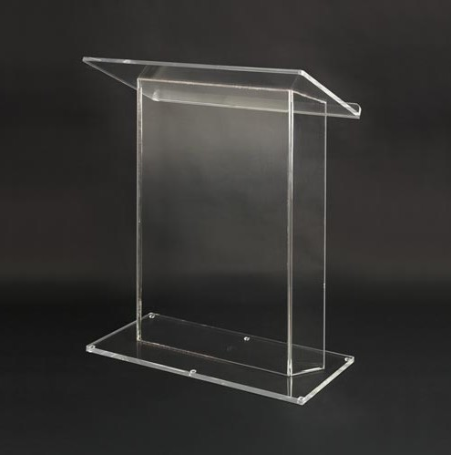 Transparent Acrylic Speech Podium Perspex School Platform Plexiglass Church Pulpit
