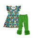 OEM clothing factory moana baby clothes hot sell boutique ruffle girl outfits clothing