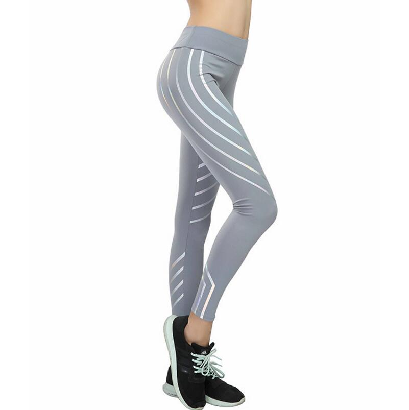 Kundenspezifische Yoga Laser Frauen Taille Fitness Leggings Stretch Hosen Trainingsbekleidung