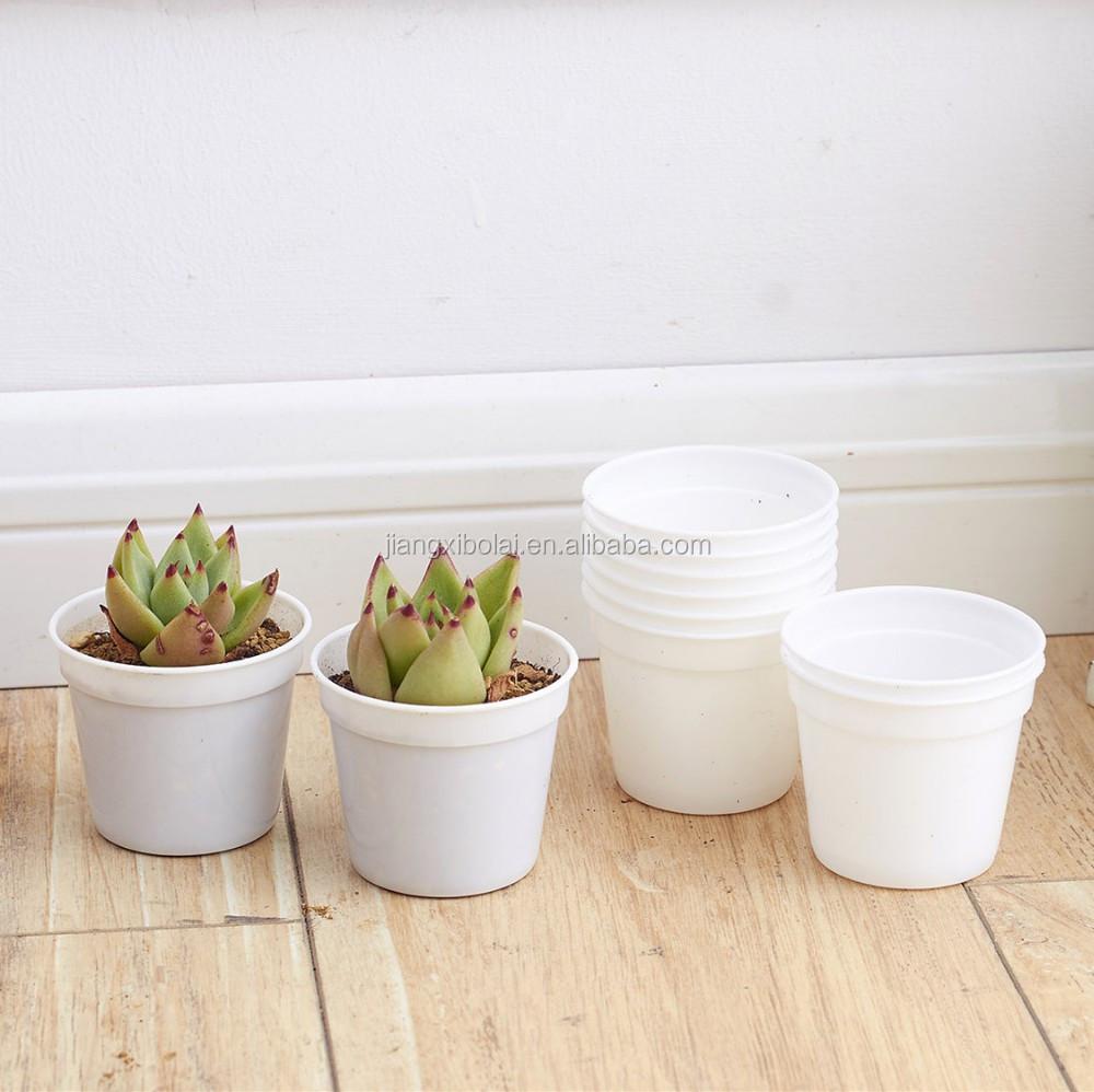 Bulk Cheap Price Mini Flower Pots White Round Plastic Planter Buy