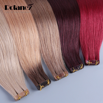 Double Drawn Tape Hair Extensions,Natural Hair Extension Tape 16-28 Inch,Custom Color
