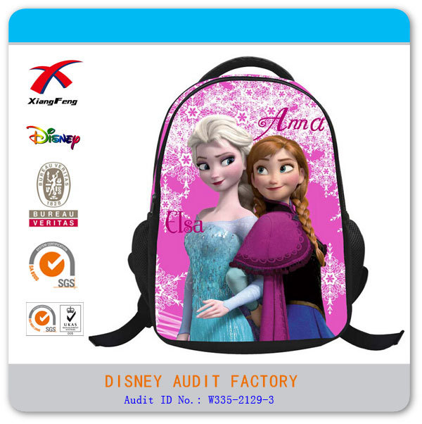 Anna and Elsa frozen backpack bag wholesale 2014