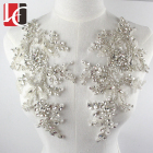 HC-3679 Hechun wholesale handmade lace botton beaded rhinestone applique