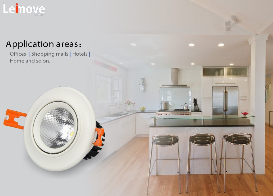 Leimove recessed bathroom led downlights white milky for customization-13