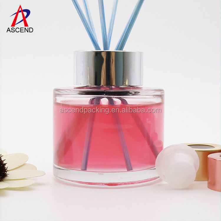 120ml Round Glass Reed Essencial Oil Diffuser Bottle With Reed Sticks