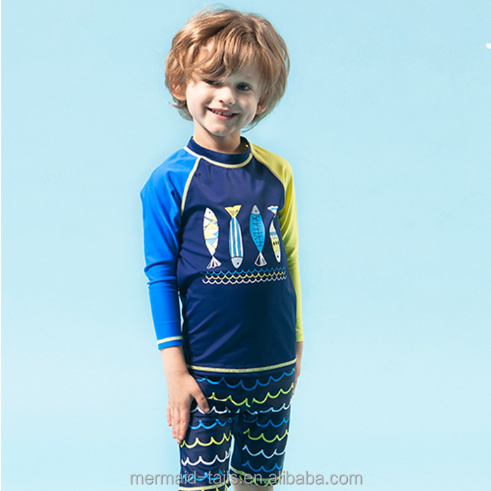 UV SKINZ Boy's 3pc Swimming Outfit-BLUE SHIP-7-NWT