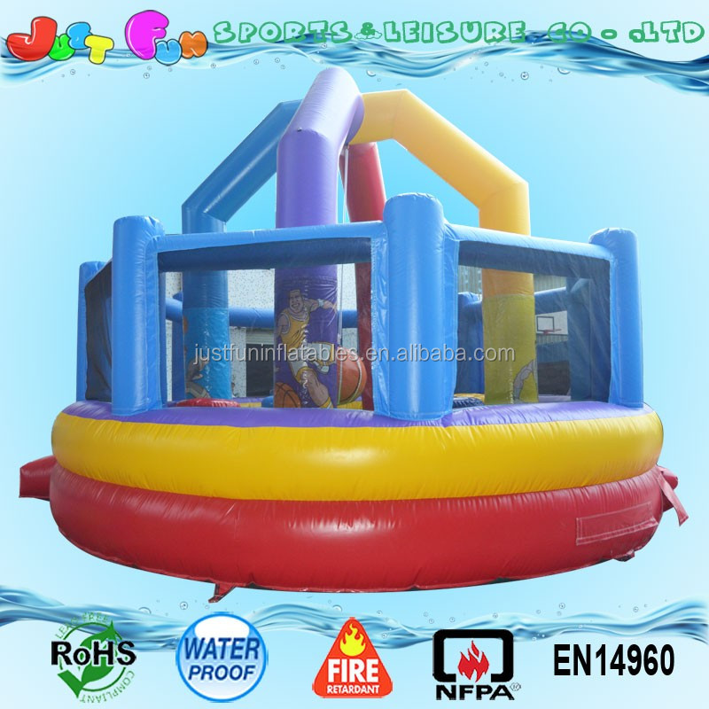 Commercial material inflatable sports blaster game for kids
