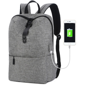 Wholesale 14 Inch Slim Laptop Backpack With USB Charging