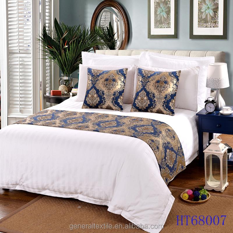Jacquard cuscini decorativi e bed rimessa laterale letto runner per hotel biancheria da letto id - Cuscini decorativi per letto ...