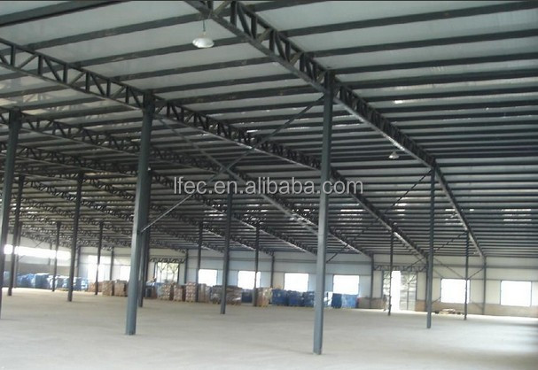 long span prefabricated steel construction factory building warehouse