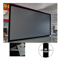 xy projector screen movie theater fixed frame projector screen 16 9 daylight anti light projection screen