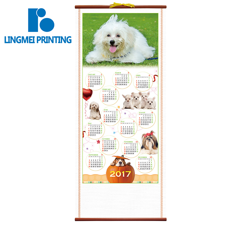 Customized design 2019 paper calendar table calendar wall calendar printing guangzhou