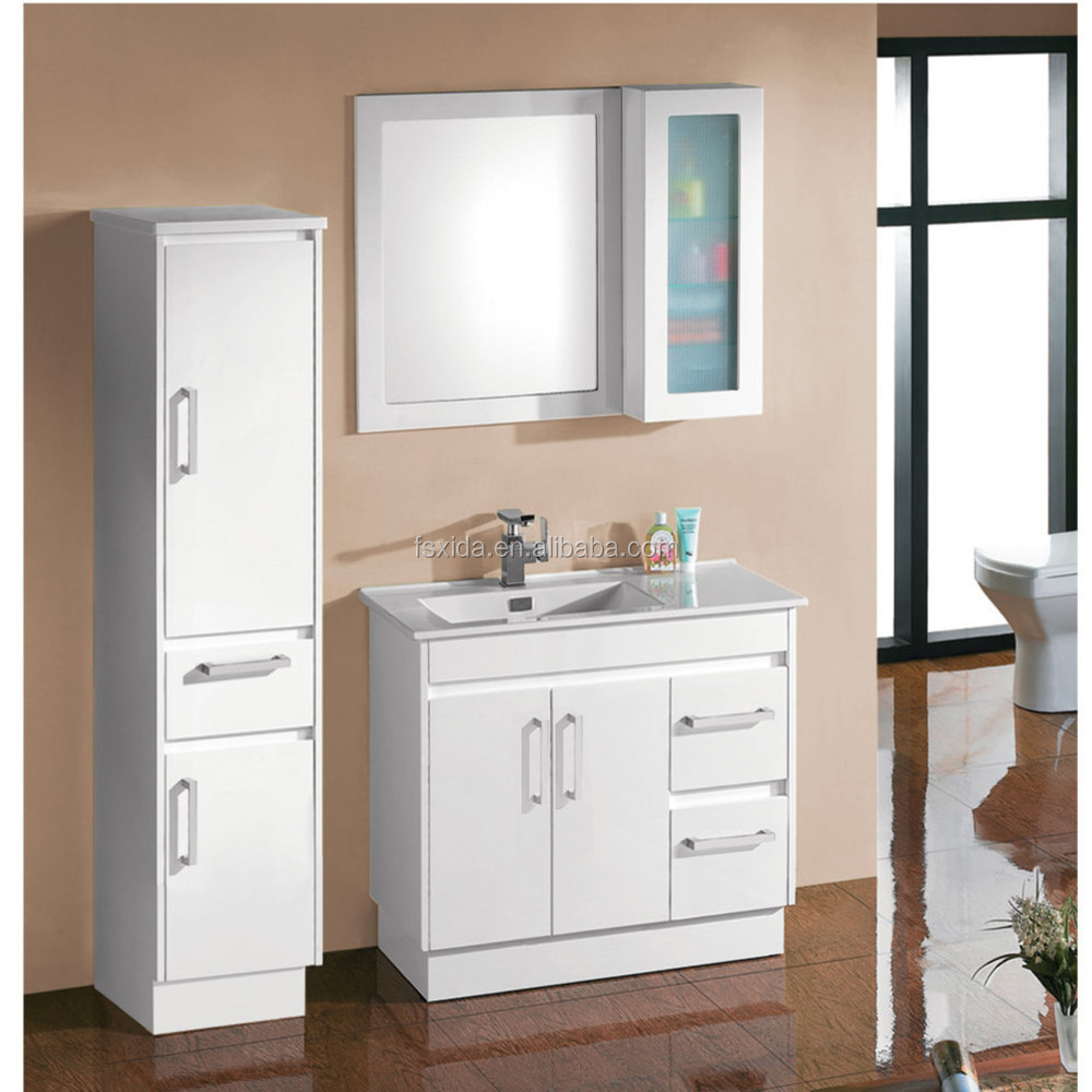Australia Por Bathroom Cabinet Vanity Wash Basin Guangdong Wooden Furniture With Unit High Gloss White Product