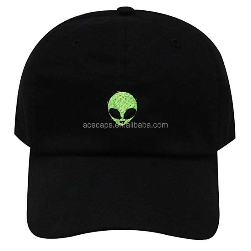 ACE Unisex snapback Baseball Cap Fashion green Alien Baseball Cap For Men Women Embroidered Cap Hat Leisure Bone Adjustable