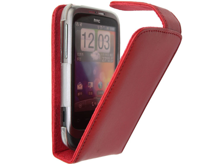 Free shipping Fashion High quality flip100% Real Doormoon leather cove case for HTC G8 wildfire A3333 A3336 A3380