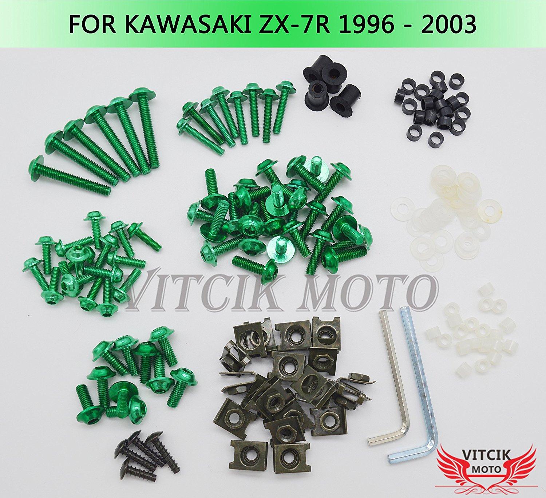 OyOCycle Windshield for Kawasaki Ninja ZX7R 1996-2006 1997 1998 1999 ZX 7R Double Bubble Windscreen Wind Deflector Wind Splitter