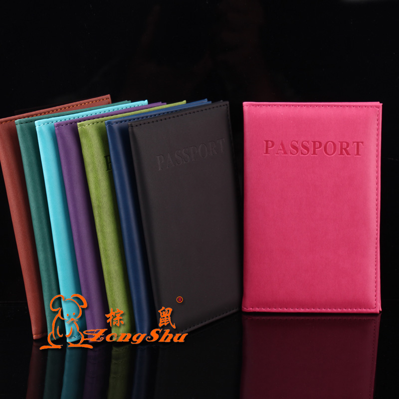 New style OEM travel essentials pu fake passport housing cover for blackberry