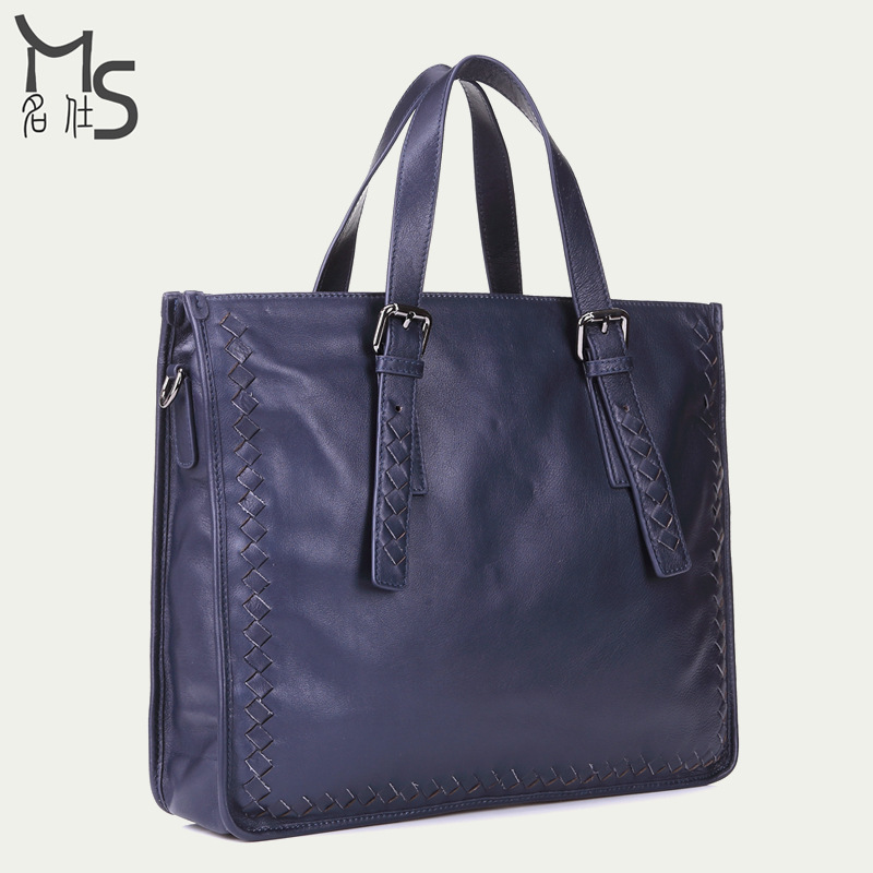Get Quotations · Men Handbags Tote Soft 2015 Promotion Freeshipping Handbag  100% Genuine Leather Men Bag 15.5 Inch d55ae2203c71e
