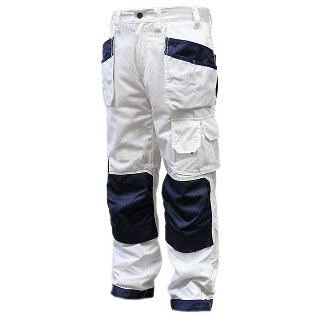 Painters Work Trousers With Cordura Pockets And YKK Zippers Durable Cargo Work Pants Contrast Cordura Knee Pads