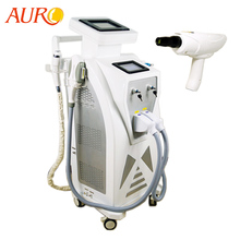 Au-S545 CE goedgekeurd OPT-SHR Ontharing Laser Tattoo Removal Laser opt rf Apparatuur