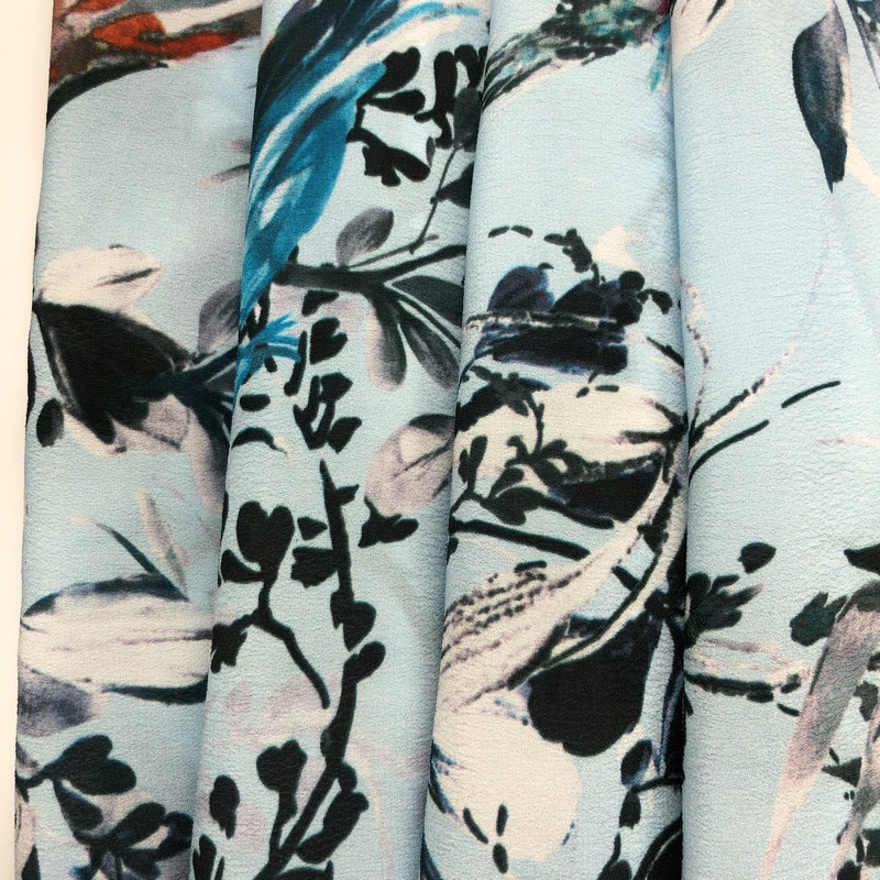 Fonesun-<strong>V129</strong> Luxury design woven digital printing 100% Viscose crepe fabric garments