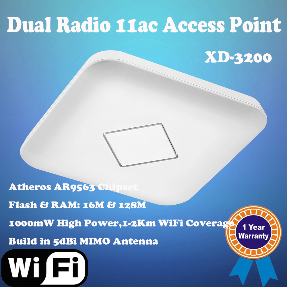802.11AC Atheros QCA9563 Chipset Dual Band WiFi Router Ceiling Mount Access Point