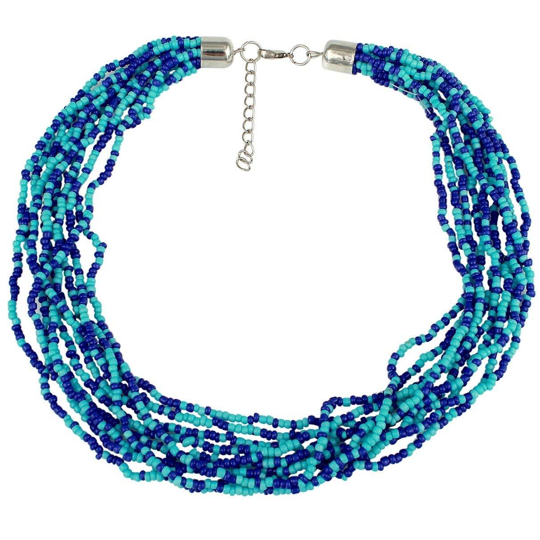 Casual Attire Multi Strand Seed Bead Necklace