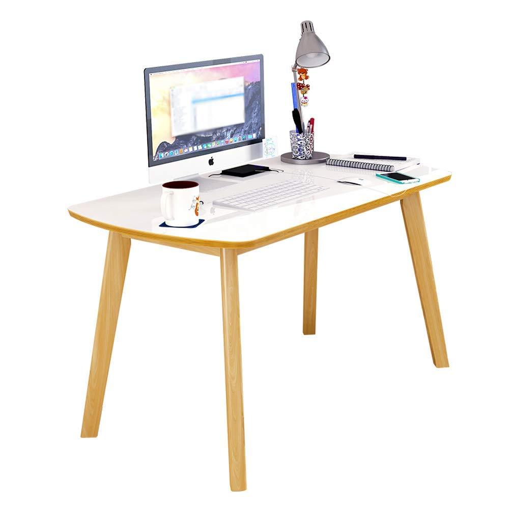 WBBZD Computer Desk, Simple Table Bedroom Minimalist Writing Desk Solid Wood Desk Desktop Computer Desk Household Practical Desk (Size : 10060cm)