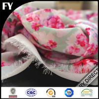 China supplier digital printing floral printed silk georgette fabric