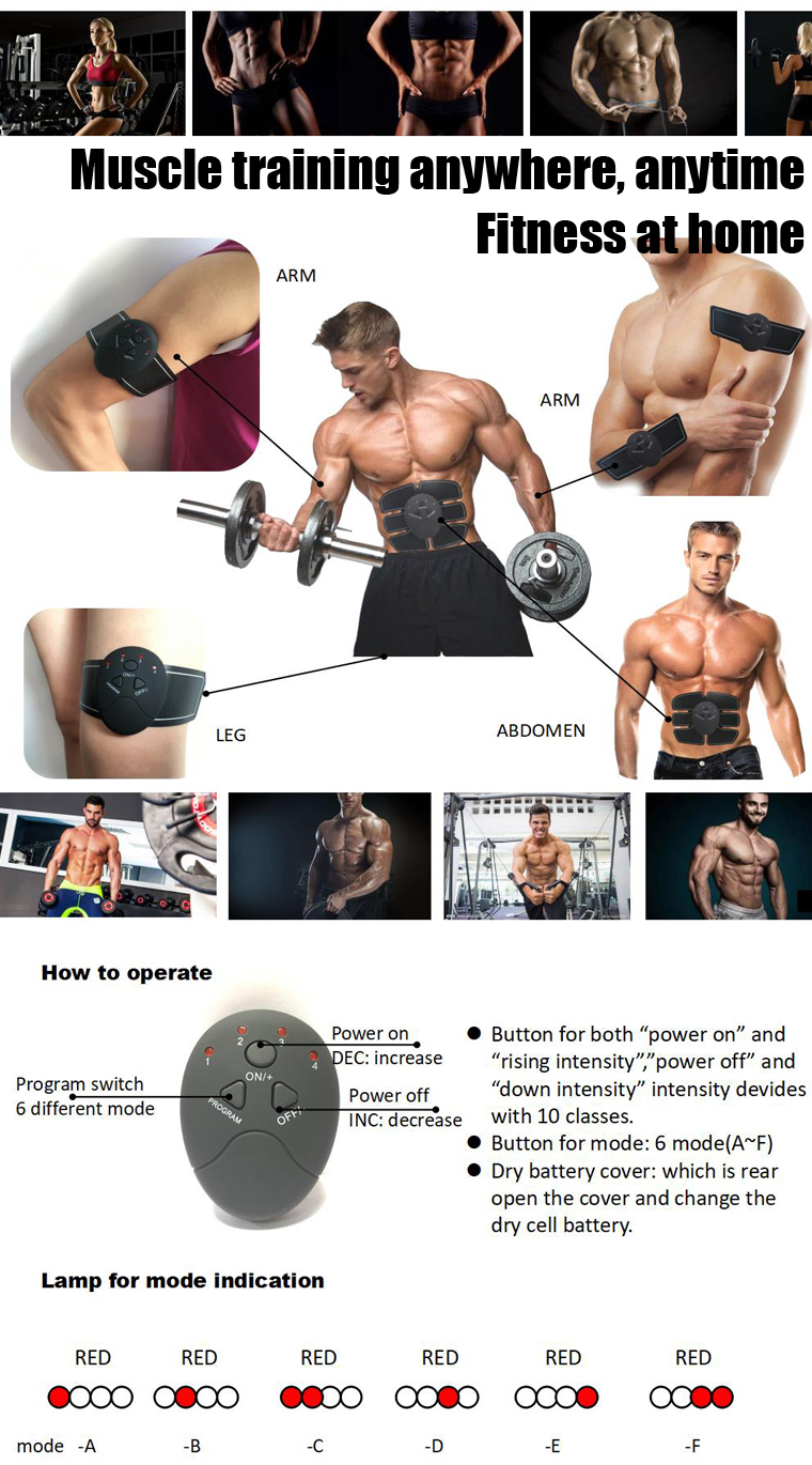 Vibrator abdominal muscle trainer toner massage machine