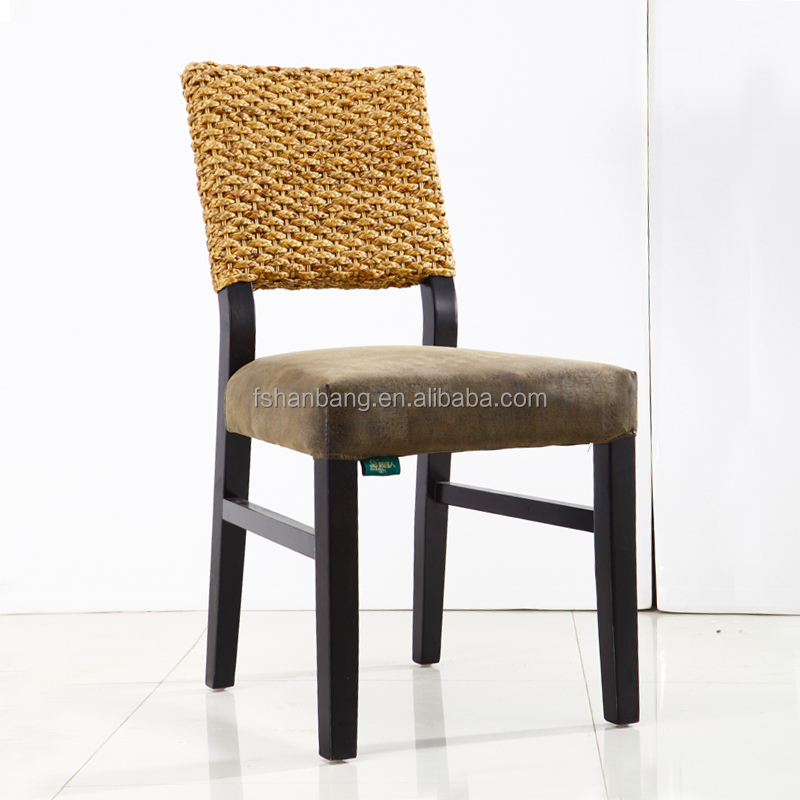 Hotsale Hand Woven Natural Rattan Wooden Cafe Dining Chair Cafe Chair