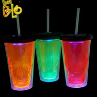 Party Supplies Halloween Flashing Double Wall Tumbler Cups