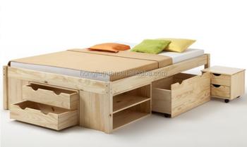 Base Letto Legno : Cassettoin legno base del letto legno massiccio letto di base