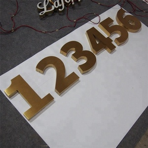 Custom Archaize Stainless Steel LED Digital Signage Letter/Number Sign