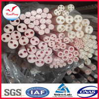 Smooth High temperature one end closed protecting ceramic high alumina 99 tube