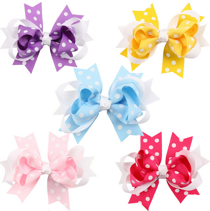 Baby Girl Hair clip Infant Toddler Bobby Pin Bow Hairclip Kids Hairpin Head Wear Girls Hair Accessories Dots Hair Pin Knot