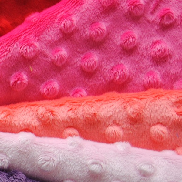MOQ 50MTS hot sale high quality minky dot velboa fabric for baby wear