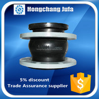 ansi/din standard double-sphere nonmetal floating flange rubber expansion joint