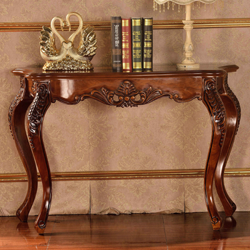 Antique Wood Hand Carved Console Table