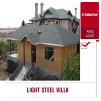 Prefabricated light gauge steel framing villa light steel villa prefab house