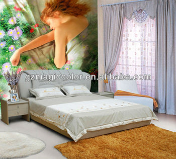 beautiful girl wallpaper design for bedroom decor