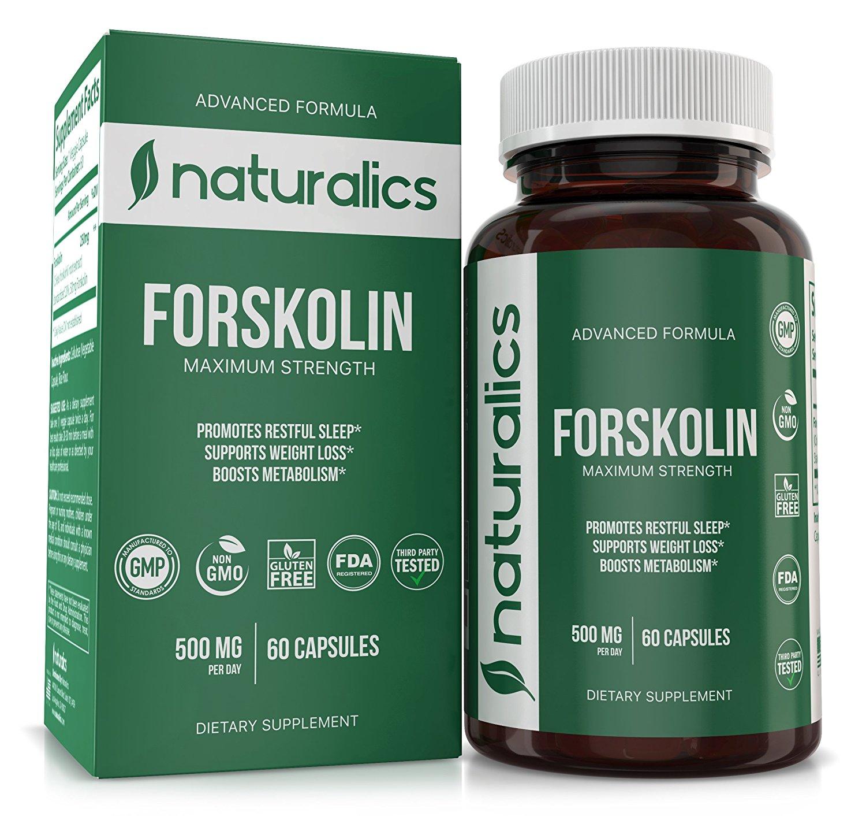 Naturalics™ - Forskolin Natural Appetite Suppressant & Metabolism Support - Non-GMO & Gluten Free, Appetite Suppressant, MAX Strength Belly Fat Burner, Carb Blocker, Weight Loss Supplement 60 Servings