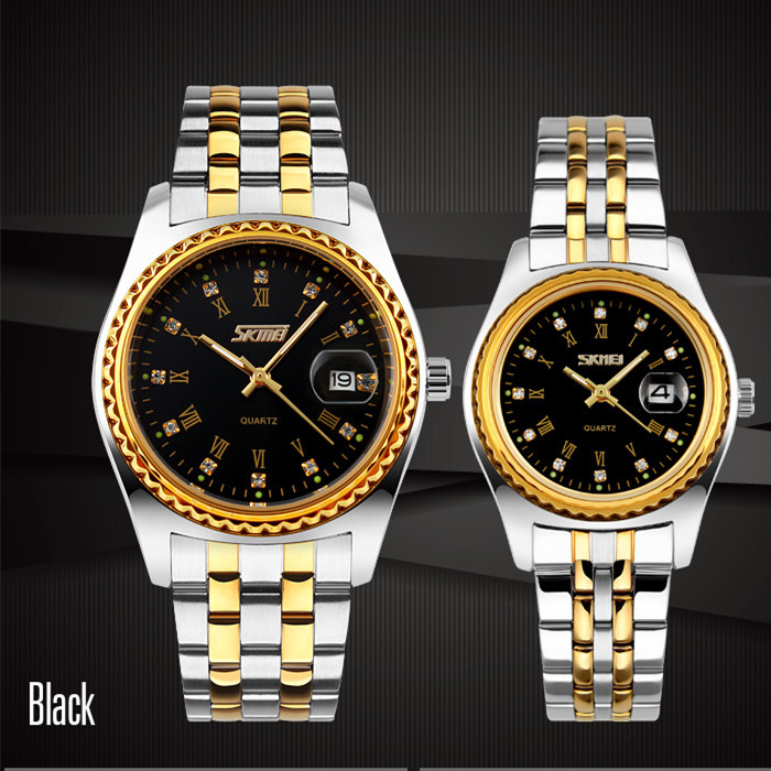 best couple wristwatch 3 atm water resistant watch gold plated